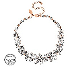 Jon Richard - Rose gold crystal cluster choker necklace MADE WITH SWAROVSKI CRYSTALS