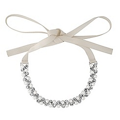Alan Hannah Devoted - Designer crystal and pearl ribbon choker necklace