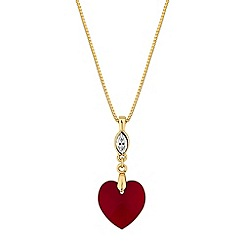Jon Richard - Heart drop necklace created with Swarovski crystals