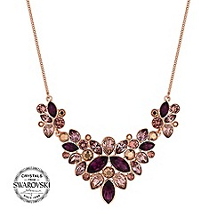 Jon Richard - Tonal crystal cluster necklace MADE WITH SWAROVSKI CRYSTALS