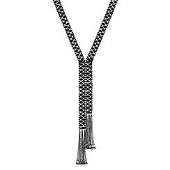 Jon Richard - Jet beaded tassel necklace