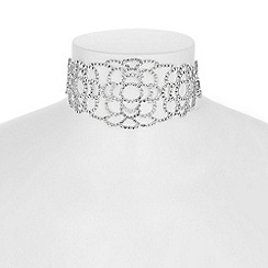 Jon Richard - Diamante lace choker necklace