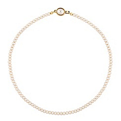 Jon Richard - Cream pearl oval clasp necklace