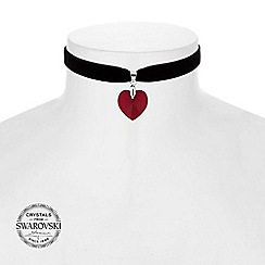 Jon Richard - Red heart choker necklace MADE WITH SWAROVSKI CRYSTALS