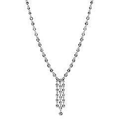 Jon Richard - Silver crystal multi droplet necklace