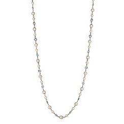Jon Richard - Cream pearl beaded long necklace
