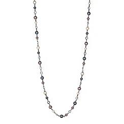 Jon Richard - Multi tone pearl beaded long necklace