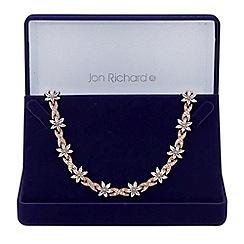 Jon Richard - Rose gold floral leaf necklace