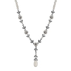 Alan Hannah Devoted - Daisy chain pearl and crystal necklace
