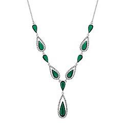 Jon Richard - Crystal surround peardrop y necklace