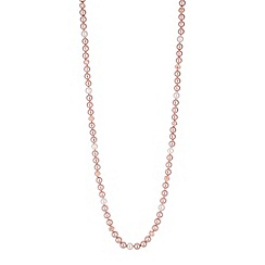 Jon Richard - Nude pearl long necklace