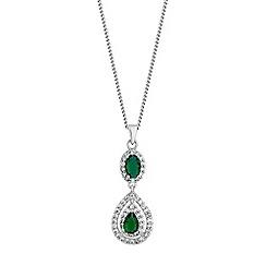 Jon Richard - Crystal surround peardrop necklace