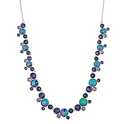 Jon Richard - Rivoli cluster necklace created with swarovski crystals