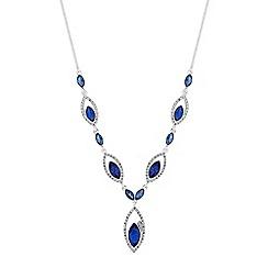 Jon Richard - Diamante open navette necklace