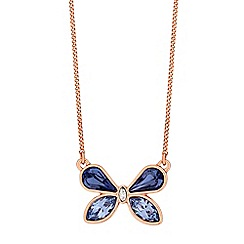 Jon Richard - Butterfly necklace created with swarovski crystals