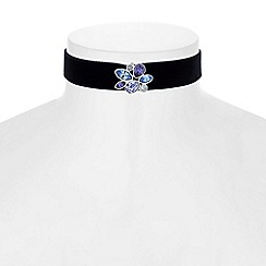 Jon Richard - Floral cluster choker necklace created with swarovski crystals