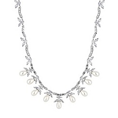 Alan Hannah Devoted - Magnolia cubic zirconia pearl necklace