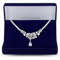 Jon Richard - Lavender cubic zirconia pear drop necklace