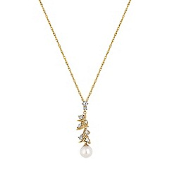 Alan Hannah Devoted - Designer navette twist pearl necklace