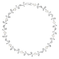 Alan Hannah Devoted - Vine pearl cubic zirconia necklace
