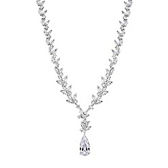 Alan Hannah Devoted - Lily cubic zirconia pear drop pendant