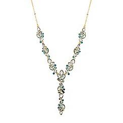 Jon Richard - Tonal green crystal lariat necklace