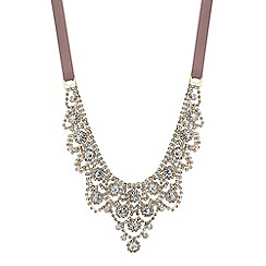 Jon Richard - Statement ornate diamante ribbon necklace