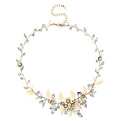 Alan Hannah Devoted - Gold blossom crystal freshwater pearl necklace