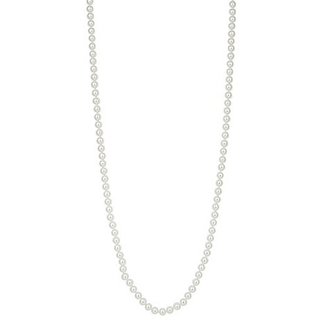 Jon Richard - White faux pearl long necklace