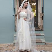 Starfire crystal floor length veil