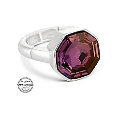 Jon Richard - Lilac shadow solaris stone stretch ring made with SWAROVSKI ELEMENTS