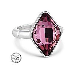 Jon Richard - Lemon fancy pink stretch ring made with SWAROVSKI ELEMENTS