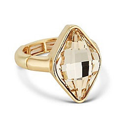 Jon Richard - Light silk lemon fancy stone stretch ring made with SWAROVSKI ELEMENTS