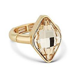 Jon Richard - Light silk lemon fancy stone stretch ring made with SWAROVSKI ELEMENTS
