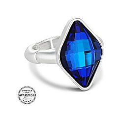 Jon Richard - Bermuda blue lemon fancy stretch ring made with SWAROVSKI ELEMENTS