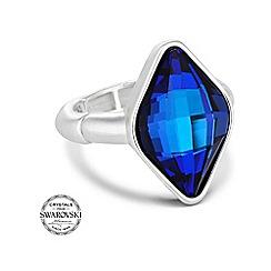 Jon Richard - Bermuda blue lemon fancy stretch ring made with SWAROVSKI ELEMENTS