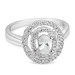 Jon Richard - Cubic zirconia double circle ring