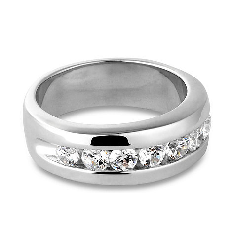Jon Richard - Cubic zirconia and polished band eternity ring