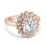 Kate style cubic zirconia rose gold ring