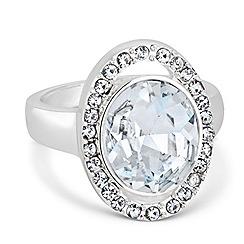 Jon Richard - Statement crystal stone surround ring