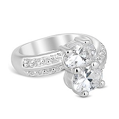 Jon Richard - Double cubic zirconia clasped ring