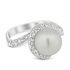 Jon Richard - Pearl and crystal swirl ring