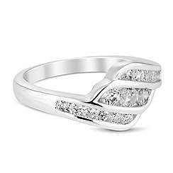 Jon Richard - Cubic zirconia wave band ring