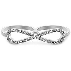 Jon Richard - Online exclusive crystal infinity double ring