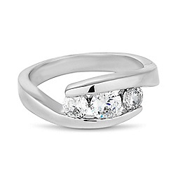 Jon Richard - Triple cubic zirconia encased ring