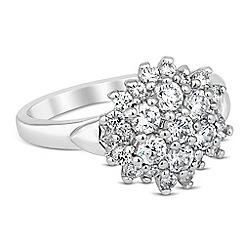 Jon Richard - Cubic zirconia cluster embellished ring