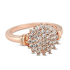 Jon Richard - Cubic zirconia encased rose gold star ring