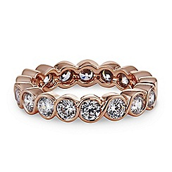 Jon Richard - Rose gold eternity band ring