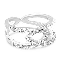Jon Richard - Cubic zirconia encased interlinked ring