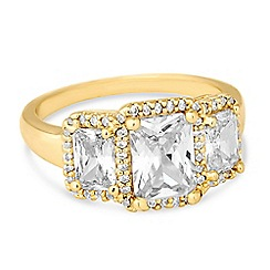 Jon Richard - Cubic zirconia triple stone ring